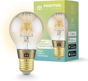 Smart Lâmpada Retrô Wi-Fi, Positivo Casa Inteligente, Filamento LED 7W - Compatível com Alexa