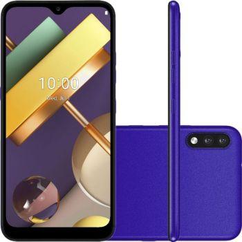 "Smartphone LG K22 32GB Dual Chip Android 10 Tela 6.2"" Quad Core 4G Câmera 13MP+2MP - Azul"