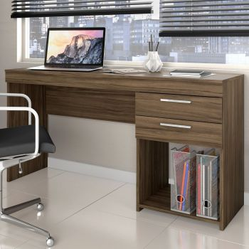 Mesa Escrivaninha 1,20 Office Nogal - Notável