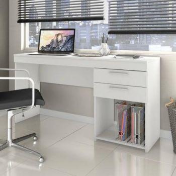 Mesa Escrivaninha 1,20 Office Branco - Notável