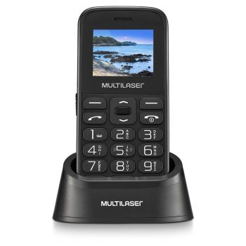 Celular Vita com Base Tela 1.8 Pol. Dual Chip 2G USB Bluetooth Preto - P9121 - Multilaser