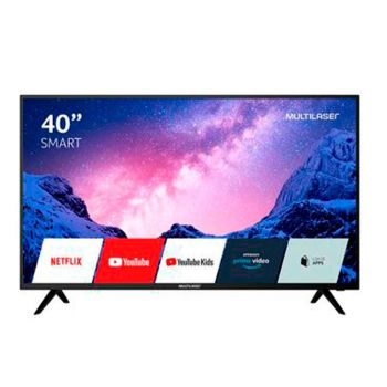 """Smart TV 40""""  FHD com Conversor Digital, HDR, Wifi, HDMI e USB Preta - TL030 - Multilaser"""
