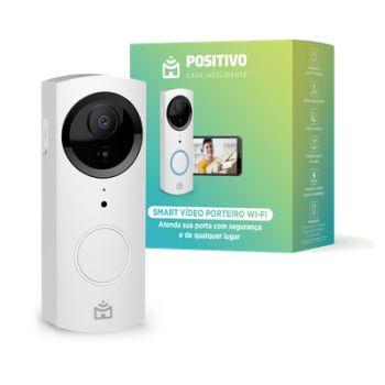 Smart Vídeo Porteiro Wi-Fi, Positivo Casa Inteligente, HD 720p, Áudio bidirecional, Controle através do Smartphone