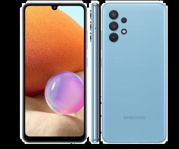 "Smartphone Galaxy A32 128GB Azul 4G - 4GB RAM Tela 6,4"" Câm. Quádrupla + Selfie 20MP-Samsung"