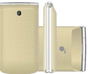 """Telefone Celular Viva 4 Tela de 2.8"""", Função SOS, Camera, Dual Chip, Bluetooth Dourado - Lemon"""