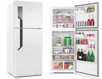 Geladeira   Refrigerador Top Freezer 431L Branco TF55 - Electrolux